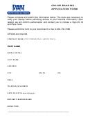 Online Banking - Application Form