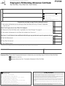 Form It-2104 - Employee's Withholding Allowance Certificate