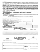 Form Mh-1040es - Declaration Of Estimated Tax - City Of Muskegon Heights - 2001