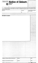 Form 2433 - Notice Of Seizure