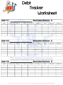 Debt Tracker Worksheet