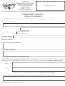 Foreign Profit Corporation Articles Of Continuance Form