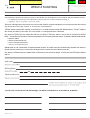 Form A-006 - Affidavit Of Exempt Sales
