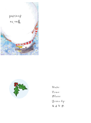 Christmas Snowman Party Invitation Template