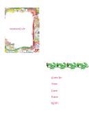 Christmas Anima Party Invitation Template
