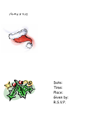 Christmas Hat Party Invitation Template