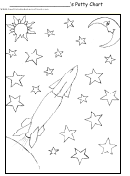 Rocketship Potty Chart