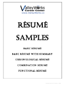 Resume Samples Templates