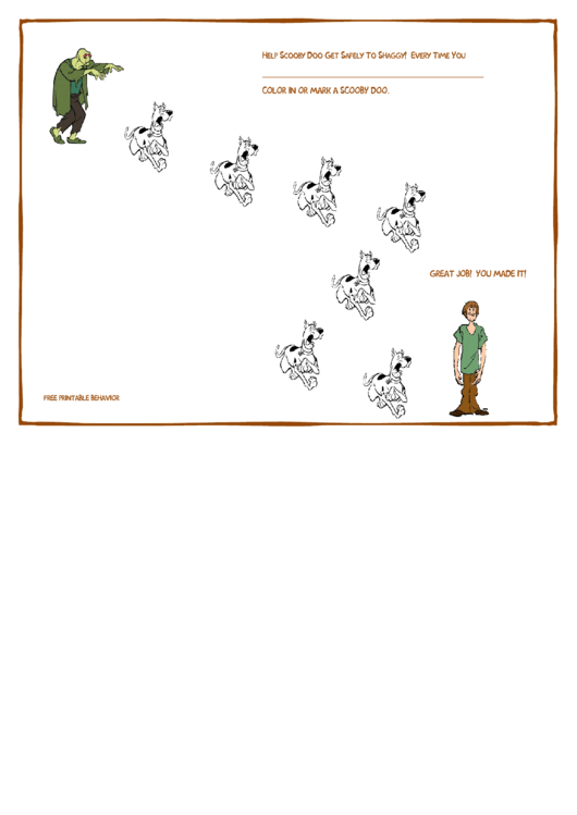 Help Scooby Doo Get Safely To Shaggy Color Behavior Chart