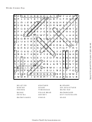 Word Search Puzzle Template With Answers