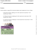 5th Grade Math Work Sheet