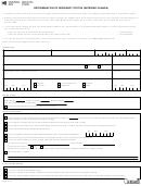 Form Nr74 E - Determination Of Residency Status (entering Canada)