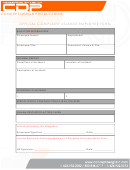 Official Complaint Against Employee Form