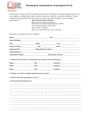 Workplace Harassment Complaint Form - Fairfax County Public Schools