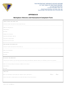 Workplace Violence And Harassment Complaint Form