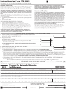 California Form 3563 (541) - Payment For Automatic Extension For Fiduciaries - 2013