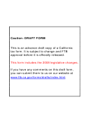California Form 3538 (565) Draft - Payment For Automatic Extension For Lps, Llps, And Remics - 2008
