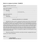 Sample Motion For Default Judgment