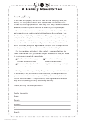 Space - A Family Newsletter Template