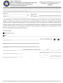 Form A312d - Statement Of Exemption From The Workers' Compensation Act Affidavit