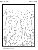 Flower Behavior Chart
