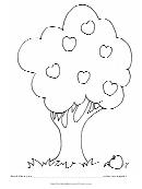 Color Apple On Tree Behavior Chart