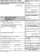 Form Uct-5334 - Agriculture Employer's Report For 2003