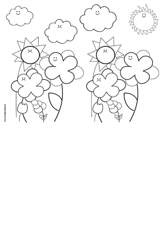 Smile Flower Garden Behavior Chart Printable pdf