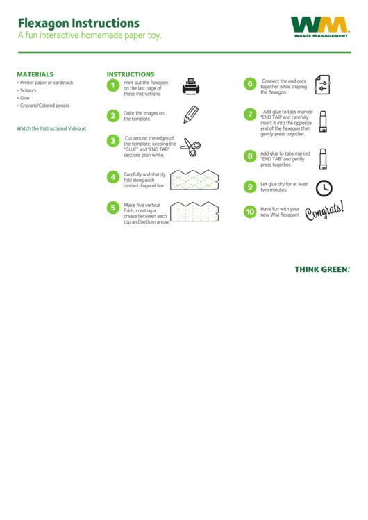 Environment Cycles Flexagon Template printable pdf download