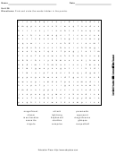 Word Search Puzzle Worksheet