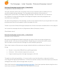 Sample 'welcome/campaign Launch' Letter Template