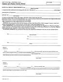Form Dos-261 - Games Of Chance Surety Bond