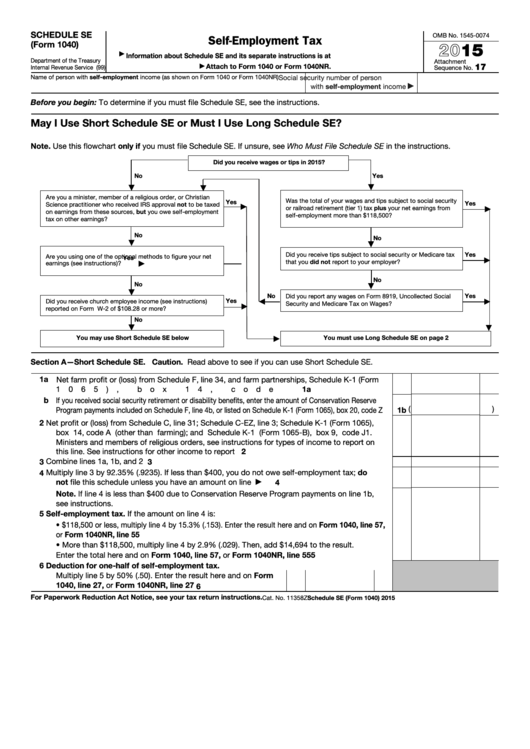 Top 21 Form 1040 Schedule Se Templates Free To Download In Pdf Format