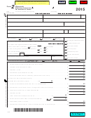 Form 2 - Wisconsin Fiduciary Income Tax For Estates Or Trusts - 2015
