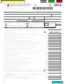 Form 6 - Wisconsin Combined Corporation Franchise Or Income Tax Return - 2015