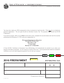 Form A-115 - Prepayment Estimated Tax - 2016