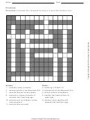 Dinosaurs Cross Word Worksheet