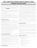 Form Ri-1040 - Rhode Island Tax Computation Worksheet - 2013