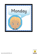 Days Of The Week For Beebot Chart