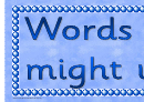 Words We Might Use Banner Template
