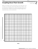 Graphing Bean Plant Growth Terrarium Habitats Activity Sheet