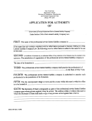 Form Dos-1369 - Application For Authority Of Foreign Professional Service Limited Liability Company