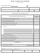 Form Mf-205 - Alcohol Fuel Tax Report