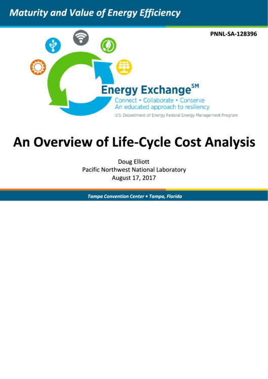 An Overview Of Life-cycle Cost Analysis