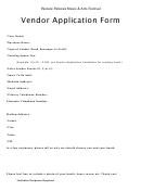 Vendor Application Form