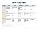 Daycare Sample Menu Template