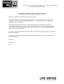 Sample Campaign Kickoff Letter