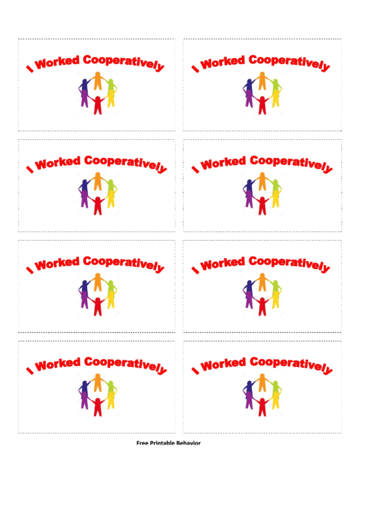 Worked Cooperatively Gift Coupon Template