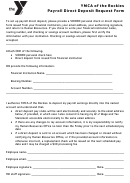 Payroll Direct Deposit Request Form - Ymca Of The Rockies