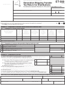 Form Et-500 - Generation-skipping Transfer Tax Return For Distributions